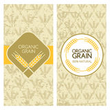 Set of vector grunge backgrounds for banner, label, package template. Royalty Free Stock Image