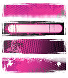 Set of vector grunge banners Royalty Free Stock Image