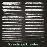 Chalk and charcoal. A set of vector brushstrokes. Grunge texture. A high resolution. Brushes are stored in the palette. royalty free illustration