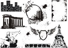 Set of vector grunge elements Royalty Free Stock Photography