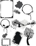 Set of vector grunge elements Stock Photo