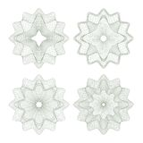 Set of vector guilloche rosettes Royalty Free Stock Photos
