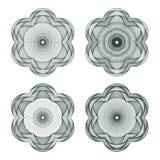 Set of vector guilloche rosettes Stock Photos