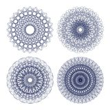 Set of vector guilloche rosettes Stock Photography