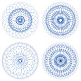 Set of Vector Guilloche Rosettes Royalty Free Stock Photo
