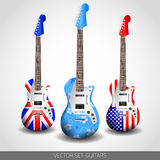 Set of Vector Guitars Stock Images