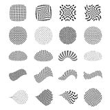 Set of vector halftone elements Stock Photos
