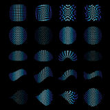 Set of vector halftone elements Stock Image