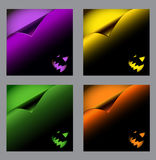 Set of vector halloween backgrounds, curl paper Royalty Free Stock Photo