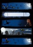 Set of vector Halloween banners Stock Photography