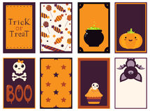 Collection of vector Halloween cards Stock Photography