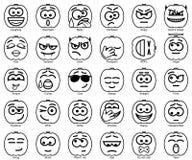 Set Vector Halloween Smiles. Set 30 Vector Halloween Smiles Stock Images
