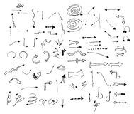 Set of vector Hand drawn arrows for design. Set of vector Hand drawn arrows for design -  on white  background Stock Photography
