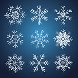 Set of vector hand drawn snowflakes Royalty Free Stock Photography