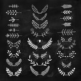 Set of vector handdrawn laurels, wreath Stock Image