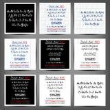 Set of vector handwritten English alphabets Stock Photos
