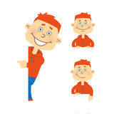 Set of vector happy student character Royalty Free Stock Photography