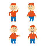 Set of vector happy student character Stock Photography
