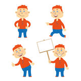 Set of vector happy student character Stock Image