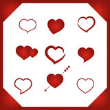 Set vector heart. Set vector illustration heart Simbol valentines day royalty free illustration