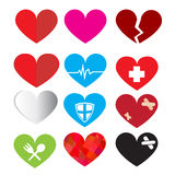 Set of vector heart symbol Stock Photos