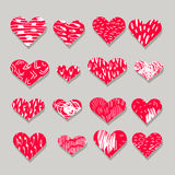 Set of vector hearts Stock Photo