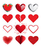 Set of vector hearts. Royalty Free Stock Images