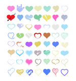 Set of vector hearts. Stock Images