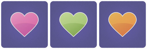 Set of vector hearts Stock Photography