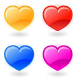 Set of vector hearts on white background Royalty Free Stock Photos
