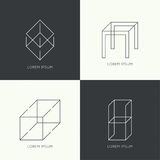 Set of vector hipster logo Royalty Free Stock Photography