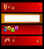 Set of vector holiday banners. Set of vector New Year banners Royalty Free Stock Photography