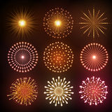 Set of Vector holiday firework Royalty Free Stock Image