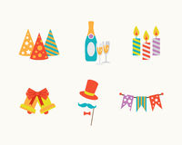 Set of vector holiday icons. Vector illustrators holiday icons set Stock Images