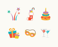 Set of vector holiday icons. Vector illustrators holiday icons set Royalty Free Stock Image
