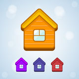 Set of vector home icon isolated Stock Images