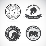 Set of vector horses labels Royalty Free Stock Photography