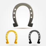 Set of vector Horseshoe icons Royalty Free Stock Photos