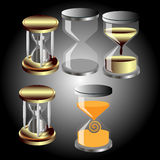 Set of vector hourglass Royalty Free Stock Photo