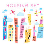 Set of vector houses Stock Images