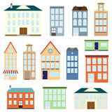 Set of vector houses Royalty Free Stock Photo
