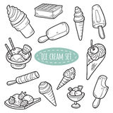 Set of vector ice cream Stock Photography