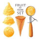Set of Vector ice creams vector illustration