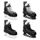 Set of vector ice hockey skates Stock Images
