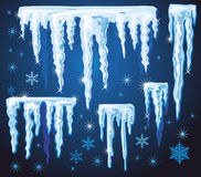 Set of vector icicles for design Royalty Free Stock Photography
