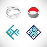 Set of vector icon with fish. Royalty Free Stock Photography
