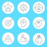 Set of vector icon graphics related to business management, strategy Royalty Free Stock Photo