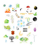 Set of vector icons Royalty Free Stock Photography