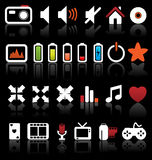 Set of vector icons. Royalty Free Stock Photography