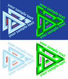 Set of vector icons of abstract triangle Royalty Free Stock Photo